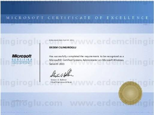 Microsoft Certified Systems Administrator on Windows Server 2003 (MCSA)