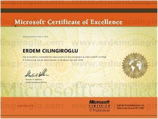 Microsoft Certified IT Professional: Server Administrator (MCITP:SA)