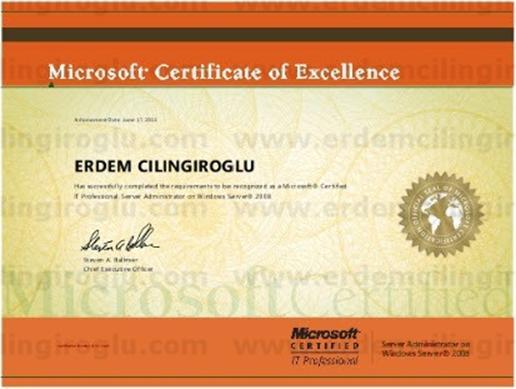 Microsoft Certified IT Professional: Server Administrator (MCITP:SA)