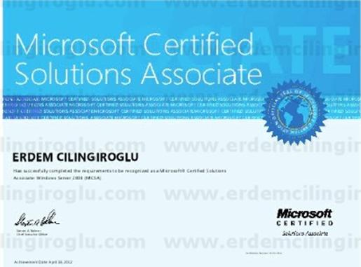 Microsoft Certified Solutions Associate on Windows Server 2008 (MCSA)