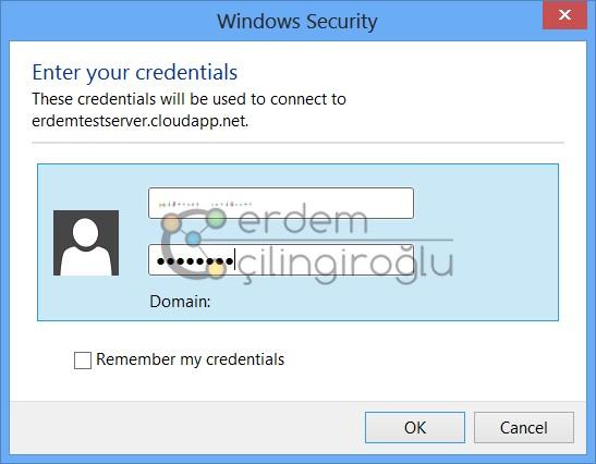 Azure RDP Credential