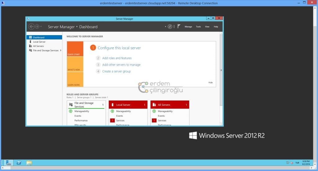 Azure Windows Server 2012 Start