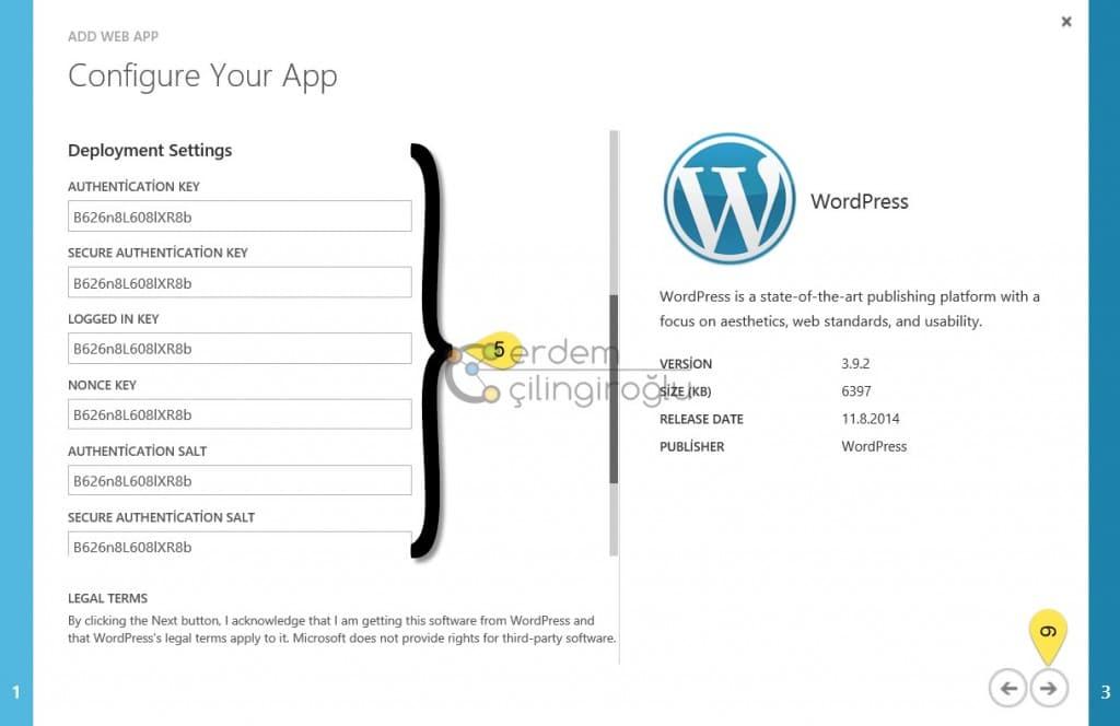 Azure WordPress Ayarları