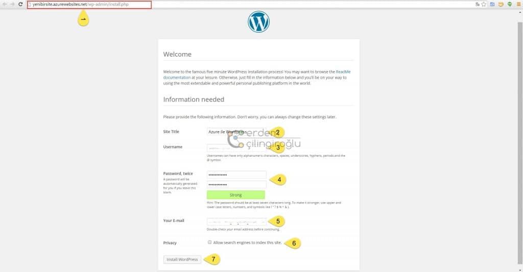 azure-wordpress-kurulum